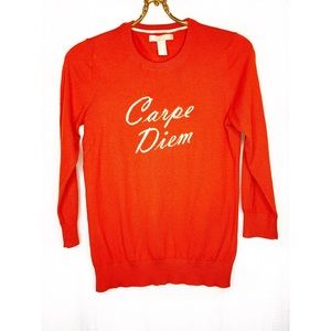 🌸2/$30 Banana Republic Carpe Diem orange sweater